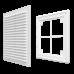Вентиляционная пластиковая решетка 150х150 Бежевый