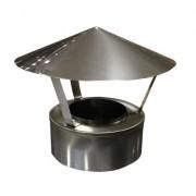 Дымоходы из нержавеющей стали оголовок с зонтом ø180 /250 толщ. ( 1 мм ) нерж. зеркальная