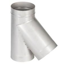 тройник 45° с заглушкой ø150 нерж. толщ. ( 1 мм )