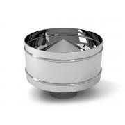 Дымоходы из нержавеющей стали дефлектор ø100 нержавейка зеркальная толщина (0,5мм)