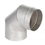 колено 90° ø110 нержавейка толщина (1 мм)
