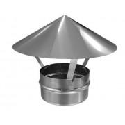 Дымоходы из нержавеющей стали зонт (грибок) ø100 нержавейка зеркальная толщина (0,5мм)