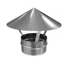 зонт (грибок) ø120 нержавейка зеркальная толщина (0,5мм)