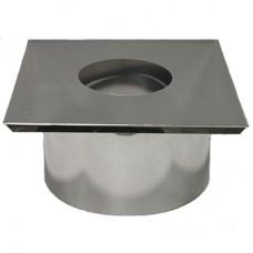 короб проходной ø250 толщ. ( 0,5 мм ) нерж. зеркальная